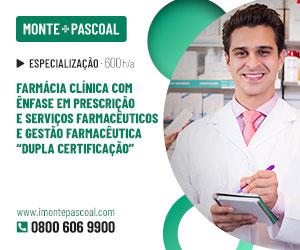 """Publicidade: Farmácia Clínica com Ênfase em Prescrição e Serviços Farmacêuticos, e Gestão Farmacêutica """"Dupla Certificação"""""""